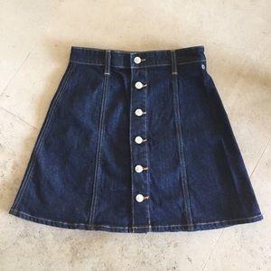 ag by Alexa Chung denim skirt